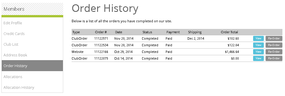 member area order history rh documentation vin65 com order history xbox order history report amazon