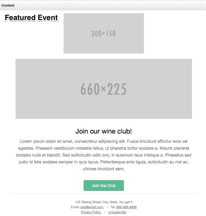 call to action email template